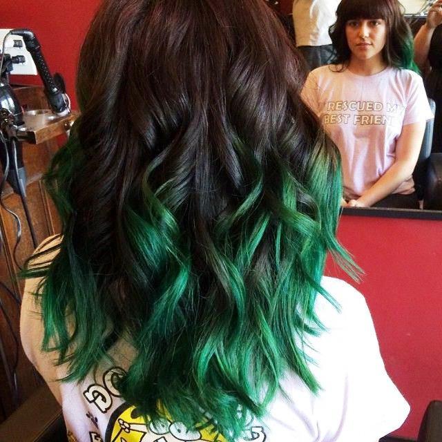 Зеленые волосы Как покрасить волосы в зеленый цвет