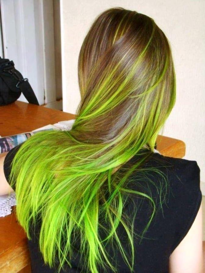 Как сделать зеленые волосы в домашних условиях
