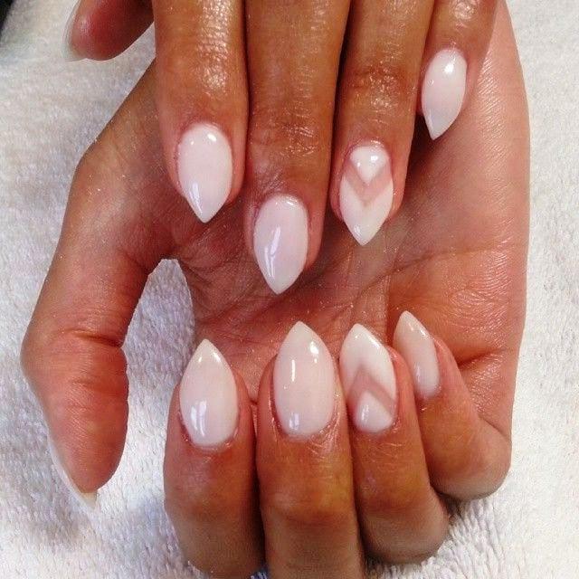 Короткие острые ногти