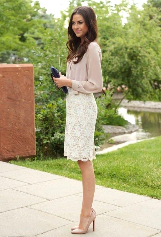 Шелково-кружевные юбки