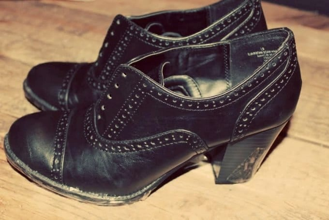 Новые туфли из старых