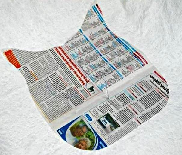 Выкройки из газет