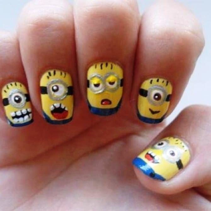 Мультфильмы на ногтях
