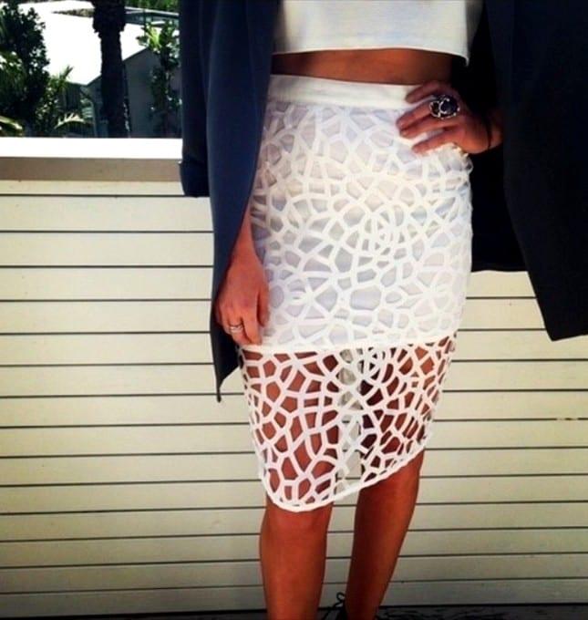 Как носить юбки с кружевом
