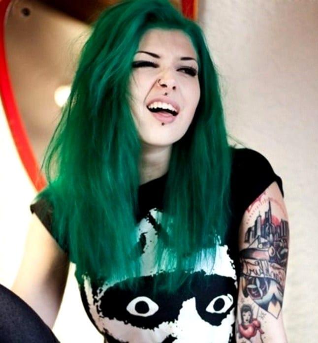 Зеленые волосы видео