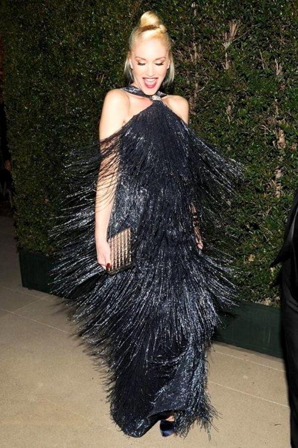 Вечернее платье бахрома