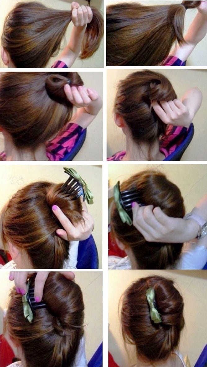 Прическа ракушка на средние волосы своими руками