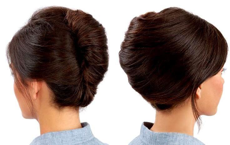 Классическая прическа на средние волосы своими руками