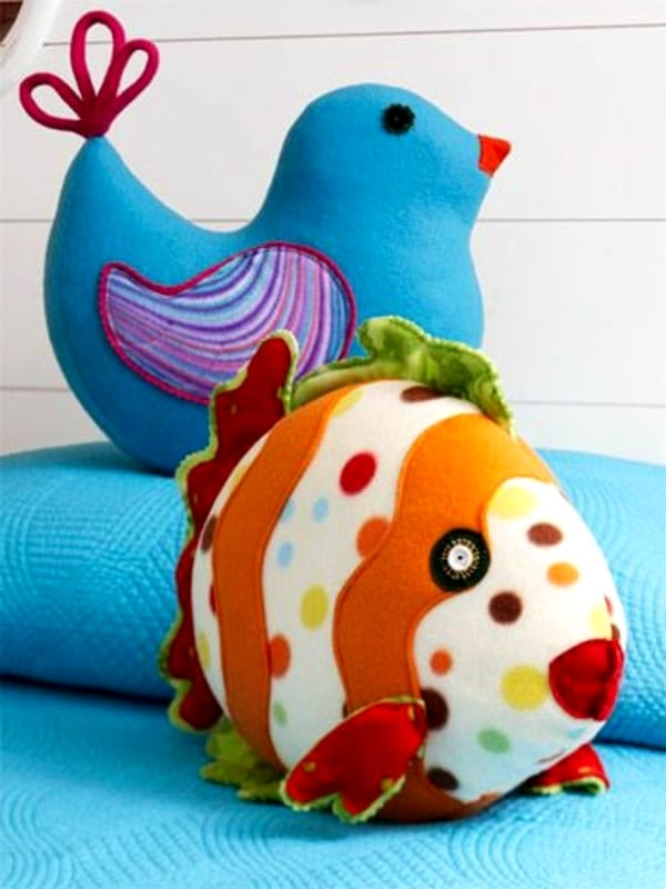 Креативные игрушки из ткани