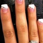 Ногти френч с рисунком, Дизайн ногтей френч с рисунком