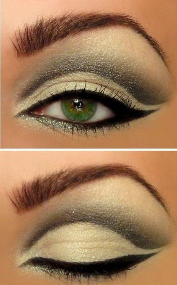 Макияж с для зелено карих глаз 4