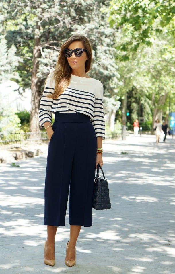 Что можно одеть с юбка брюками