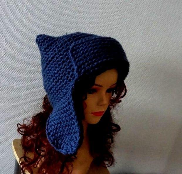 Вязание шапки ушанки для девочек подростка 60