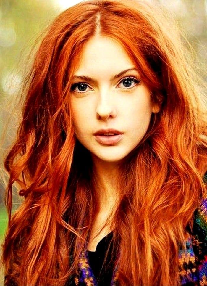 Показать цвет рыжих волос