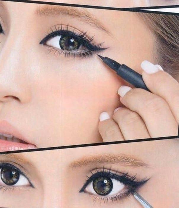 Как сделать из маленького глаза большой сделав макияж