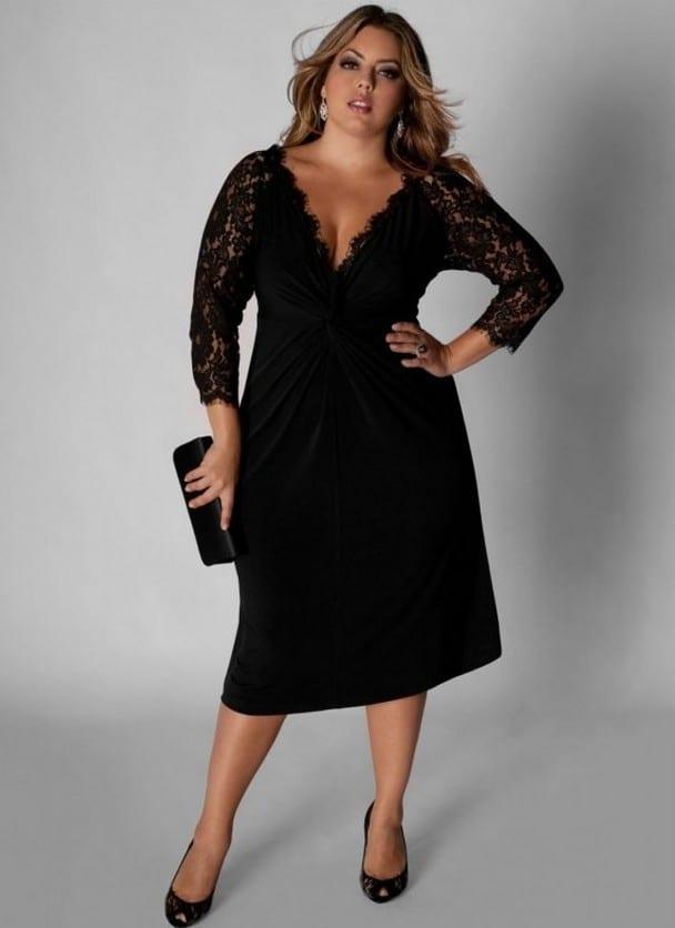 Модельные платья для полных