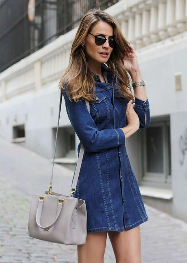 a33a0e79ffd ... джинсовое платье стало той изысканной изюминкой