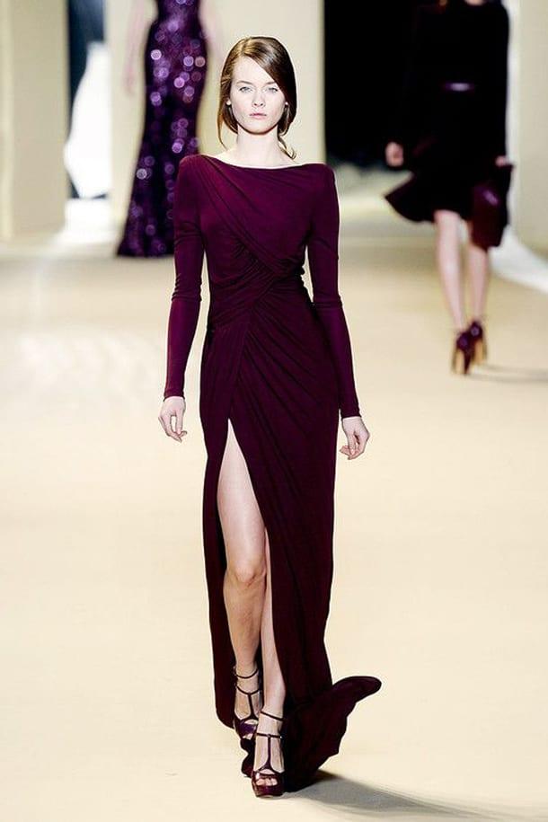Длинное платье с разрезом от бедра в пол