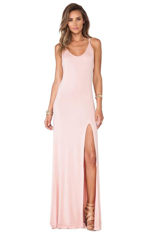 Длинные вечерние платья с разрезом по ноге 99