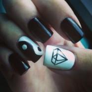Черно-белый маникюр. Черно-белый дизайн ногтей