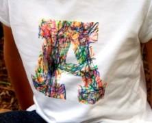 Как сделать надпись на футболке