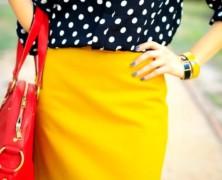 С чем носить желтую юбку