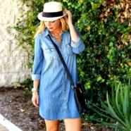 Джинсовое платье – как просто быть стильной!