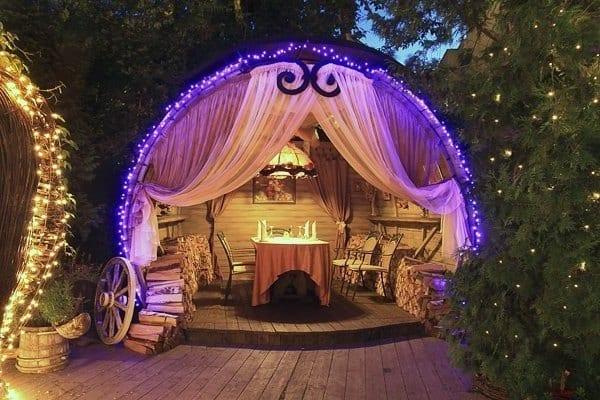 романтический вечер на природе