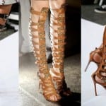 Высокие сандалии гладиаторы для девушек