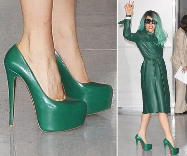 Леди Гага в зеленом