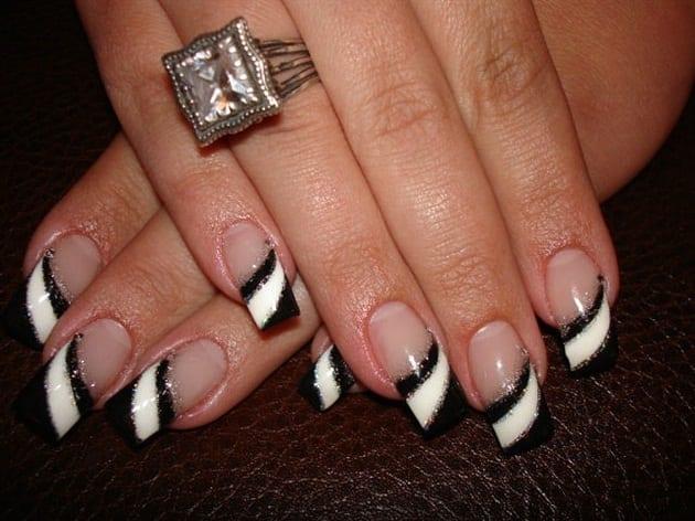 Нейл-арт на длинных ногтях