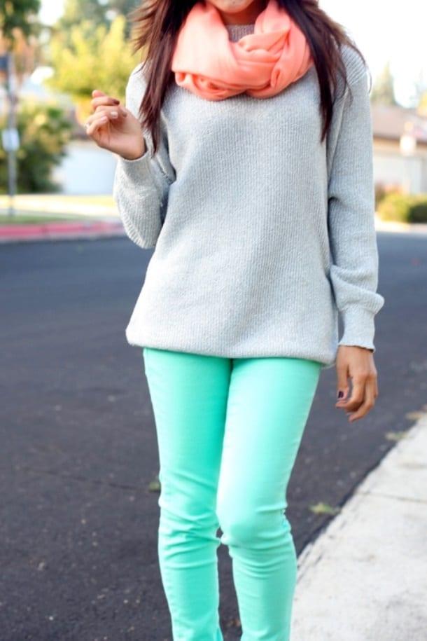 Бирюзовая одежда