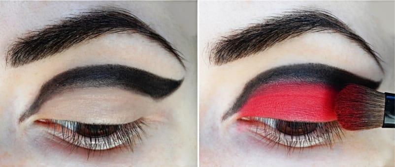 Двухцветный макияж глаз