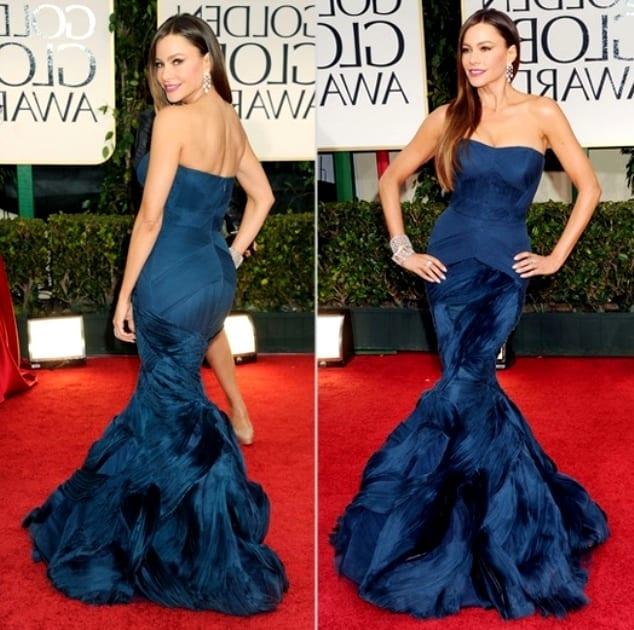 """Синее платье-""""рыбка"""""""