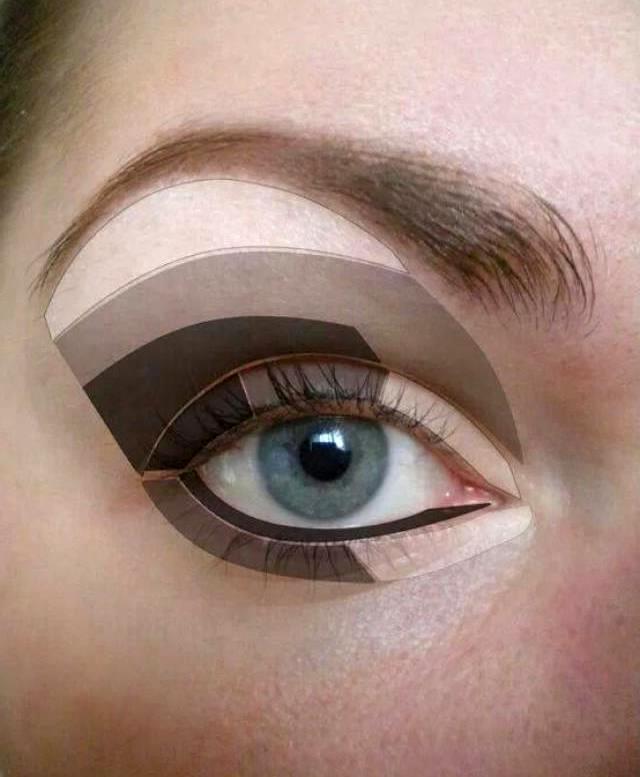 Схема макияжа глаз