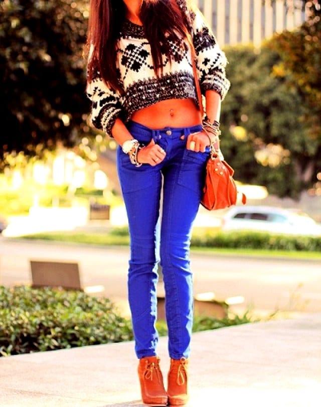 Цветные джинсы