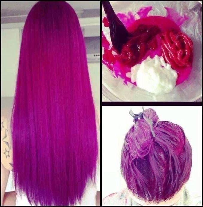 Кислотный цвет волос