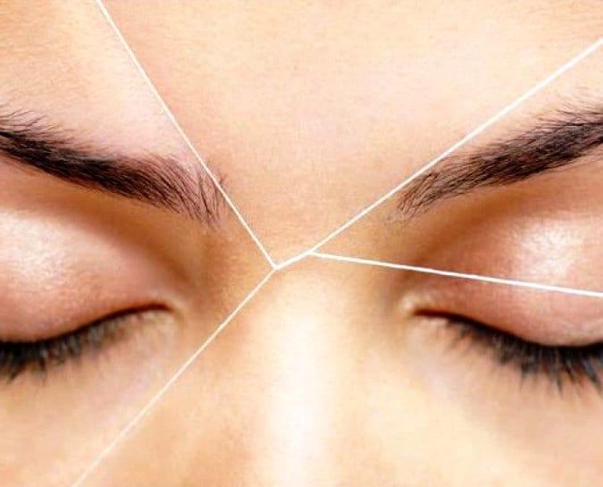 Как удалять волосы с помощью нити