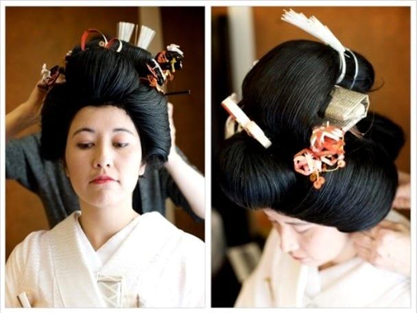 Японская традиционная женская прическа