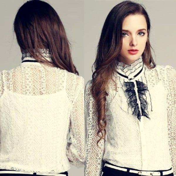Скромная блузка