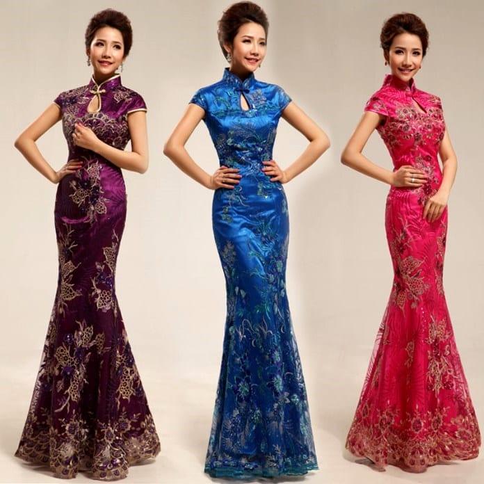 Азиатский стиль платьев