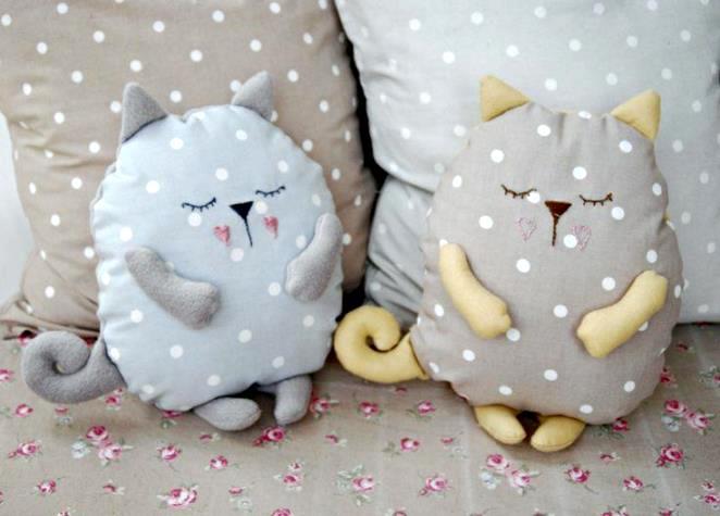 Выкройка подушки кот своими руками