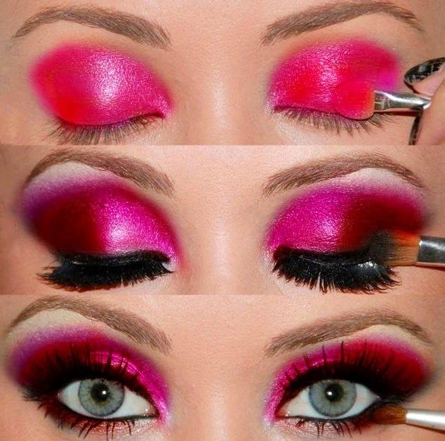 Яркий макияж глаз
