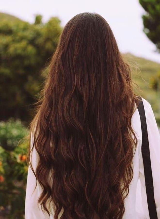 фото длинных волос со спины уход