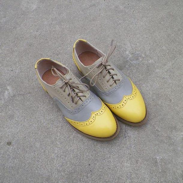 Желто-серые броги