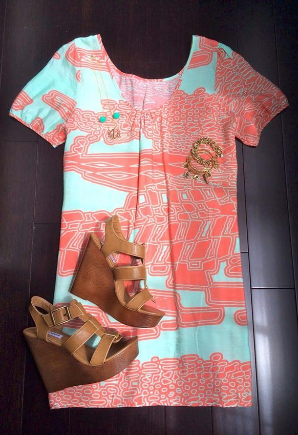 Босоножки и платье